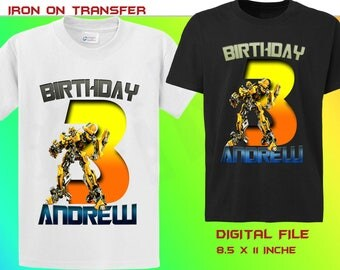 Transformers Iron On Transfer, Transformers Personalize Birthday Shirt Iron On Transfer, Transformers Birthday Party, Digital File Only