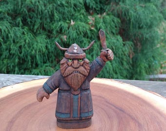 Hand-carved Viking Statue