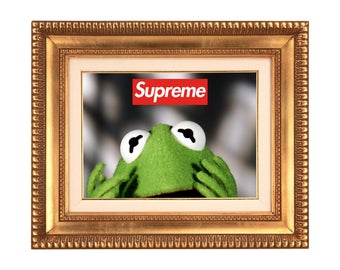 Supreme x Kermit the Frog Poster or Art Print