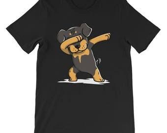 Cute Rottweiler Dog Dabbing T-Shirt Funny Rottie Dab Dance Gift Shirt