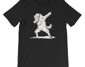 Cute Dabbing Great Pyrenees T-Shirt Funny Dog Gift