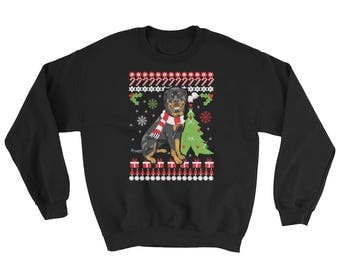 Cute Rottweiler Ugly Christmas Sweater Funny Rottie Dog Gift