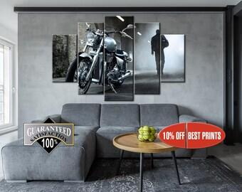 Motorbike canvas, Motorbike wall art, Large Bike Canvas, Motorcycle wall art, Motorcycle decor, Motorbike print, Motorbike wall decor