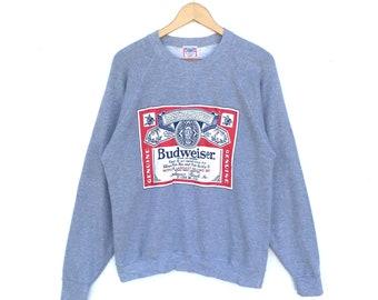 Vintage Budweiser Sweatshirt Medium Size Pullover