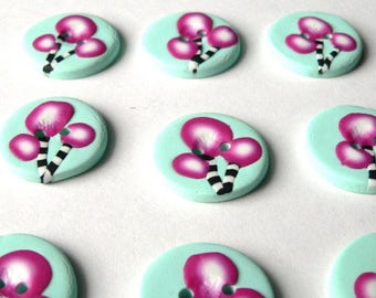Lollipop Tree Buttons - handmade in polymer clay