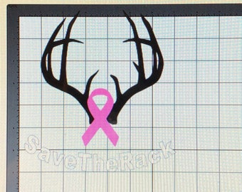 Breast cancer save the rack decal