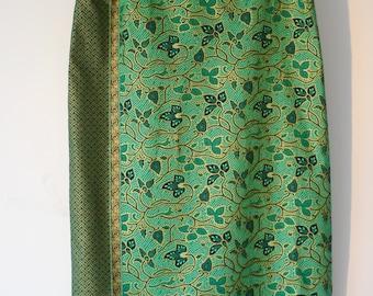 Green Batik Skirt