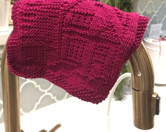 House/Cabin dishcloth