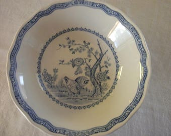 FURNIVALS Made in England  Quail Blue Cereal / Soup BOWLS