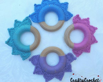Crochet Lotus Teether