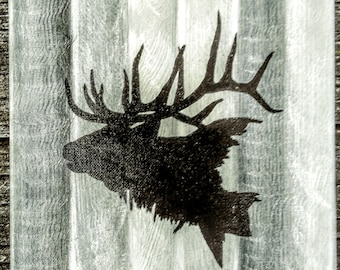 Rustic Elk silhouette acrylic painting stencil home decor sign