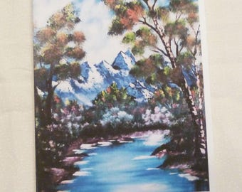 Handmade Greeting Card, Landscape All Occasion Greeting Card, Birthday, Friend, Just to say hello, Boys Greeting Card, Made in the USA, #18