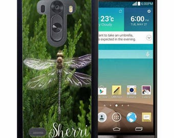 Personalized Rubber Case For LG  3, 4, 5, 6 - Dragon Fly