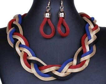 African Inspired Statement Necklace