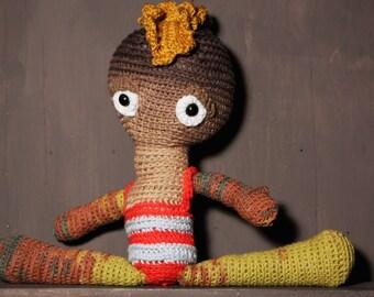 Punk cuddly doll