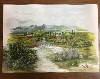La Valle (technique acrylic painting on canvas-made by hand)