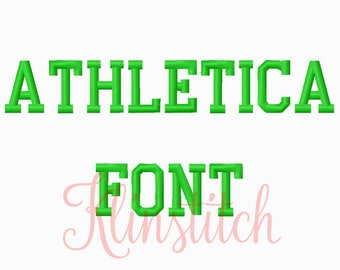 50% Sale!! Athletica Embroidery Fonts 4 Sizes Fonts BX Fonts Embroidery Designs PES Fonts Alphabets - Instant Download