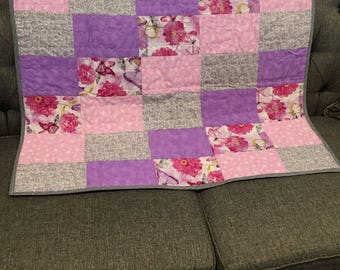 Homemade quilt for baby