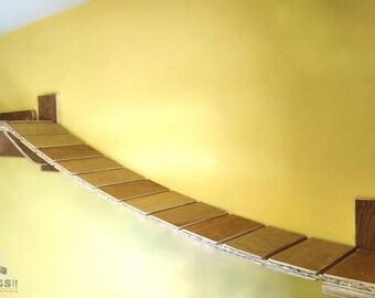 Hand-built Custom Cat Suspension Bridge
