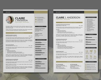 modern resume template word format 3 page word resume design and free cover letter - Modern Resume Formats