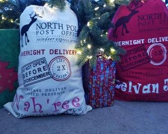 Personalized Santa Bags, santa bag, christmas bag, gift bags, santa sack, christmas sack, christmas gift sack