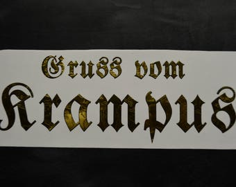 Krampus Vinyl Decal