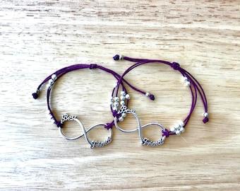 Bff Burgundy Hemp Bracelets Set