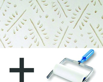 Pattern Paint Roller Kit DIY Wallpaper - Twiggy Pattern