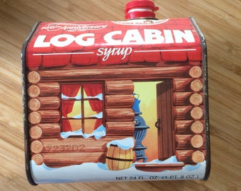 Log Cabin Syrup tin (for decoration purposes only)