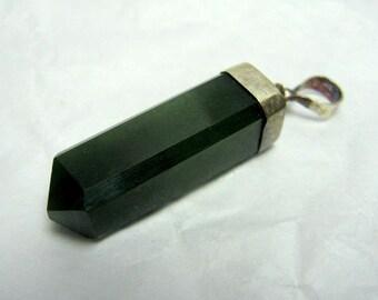 28 Carats Beautiful Nephrite Jade Pendant , Nephrite Jade Necklace , Nephrite Jade Jewelry Size 31*7mm