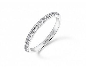 Elegant 15 stone round brilliant cut diamond half eternity ring 0.38 carat - Engagement Ring, White/Rose/Yellow Gold, Platinum and Palladium