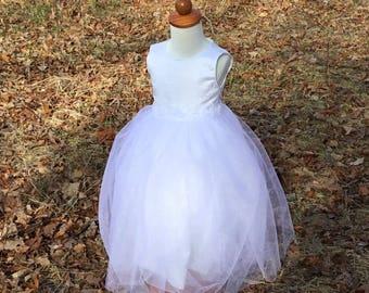 White Flower Girl dress size 2T