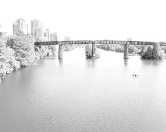 Living Room Decor, Black and White Photography, Graffiti Bridge, Pac Man, Never Give Up, Downtown, Austin, Fine Art Prints, Wall Hanging