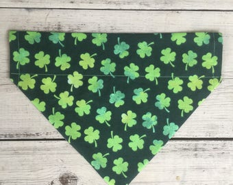 St. Patricks Day Clover Bandana, St. Patricks Day Dog Bandana, Clover Dog Bandana