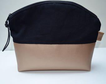 Makeup bag/ toiletry bag Metallic-Look