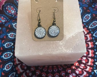 Perfect Circle Sparkle Earrings