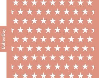 Stars Cake Stencil, Cookie Stencil, Designer Stencil, Decoupage stencil, Tortenschablone