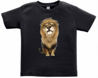 Funny Lion Toddlers/Kids T-Shirt