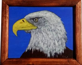 Eagle Portrait with frame