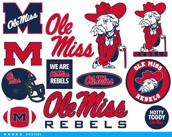 Ole Miss svg – Ole Miss Rebels svg – Ole Miss clipart – Mississippi svg – Hotty Toddy Rebels clipart – vector files – svg pdf png dxf eps