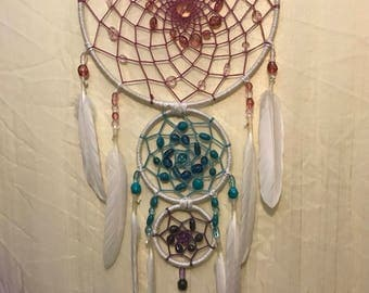 Three ring dream catcher