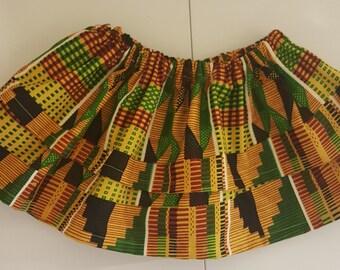 LIttle girl kente double layer skirt