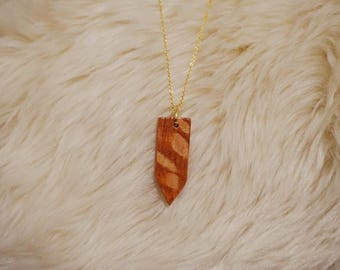 Australian Lacewood Pointed Pendant