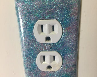 Limited Edition Shimmering Blue Fairy Outlet Cover