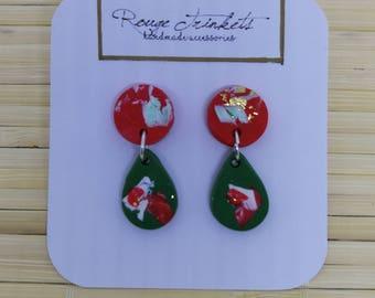 Candy Cane Dangling earring