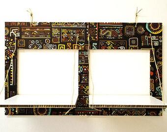 Decorated cardboard shelves-CARTONSOLE-model 022 ETHNIC