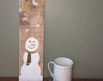 Snowman With Gold Scarf
