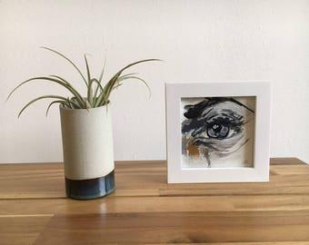 Klein ingelijst schilderij van acrylverf op canvas