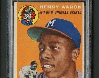 1954 Topps #128 Hank Aaron Rookie PSA 5