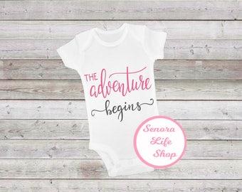 Baby Girl Onesie The Adventure Begins